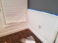 How to Install Picture Frame Moulding Wainscoting - ToolBox Divas Picture Frame Wainscoting, Wainscoting Height, Wainscoting Nursery, Wainscoting Kitchen, Painted Wainscoting, Dining Room Wainscoting, Picture Frame Molding, Picture Frames, Wainscoting Ideas