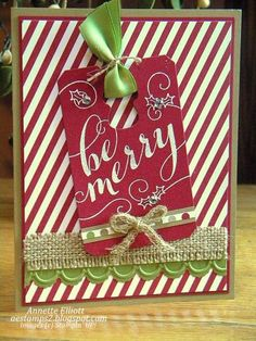 Be Merry! by AEstamps2 - Cards and Paper Crafts at Splitcoaststampers