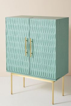 Bethan Gray for Anthropologie Feather Collection Bar Cabinet Bar Furniture, Furniture Makeover, Furniture Design, Furniture Stores, Furniture Websites, Wood Bar Cabinet, Bar Cabinets, Interior Decorating, Interior Design