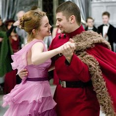 """""""In the previous films, I didn't even realize that there was a kind of chemistry there. When Hermione turns up at the Yule Ball with Viktor, it's the last straw for Ron, who finally realizes that he has feelings for her."""" - Rupert Grint #HarryPotter"""
