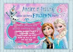 Frozen Birthday invitation - Custom design - Frozen invitation