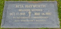 Holy Cross Cemetery, Grave Markers, Famous Graves, Life After Death, Graveyards, Rita Hayworth, Past Life, Memento Mori, Special People