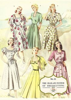 The Haslam System of Dressmaking No. 21  1950's  by MyVintageWish