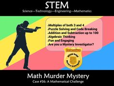 This murder mystery will engage students by taking them on a journey to solve addition math puzzles to solve a murder. Students will need to gather evidenc. Math Stem, Stem Science, Maths Resources, Math Challenge, Maths Puzzles, Student Engagement, Addition And Subtraction, Science And Technology, Sorting