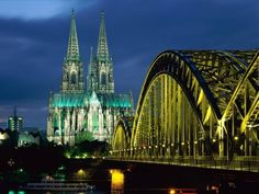 "Cologne, Germany - The Kölner Dom aka ""Cologne Cathedral"" is a MUST see. It's simply magnificent. In this pic are the Kölner Dom and Hohenzollern Bridge. Try the ""kölsch"" beer and you'll be glad you did. Places Around The World, The Places Youll Go, Places To See, Around The Worlds, Travel Photographie, Cologne Germany, Bonn Germany, Berlin Germany, Visit Germany"