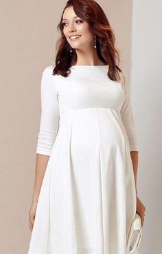917094762ace9 Sienna Maternity Dress Short Cream - Maternity Wedding Dresses, Evening Wear  and Party Clothes by Tiffany Rose UK