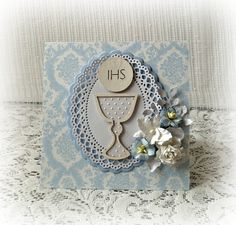 First Communion card Confirmation card First by CarmenHandCrafts