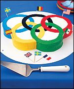 Let's Party: Kids Olympics Cake from Parents Magazine Olympic Idea, Olympic Games, Kids Olympics, Summer Olympics, Gymnastics Party, Gateaux Cake, Birthday Parties, Birthday Ideas, 5th Birthday