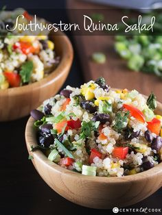 Southwest Quinoa Salad like the Whole Foods version! Clean eating never tasted so good. #vegan #recipe