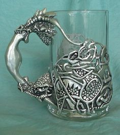 silver glass holder