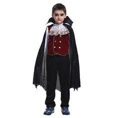 Halloween Dracula Stick Vampire Crocs Effrayants Caps Dents Costume Robe Fantaisie