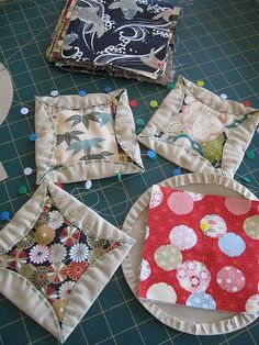 Japanese Kaleidoscope Quilt blocks. i like this alternative to a cathedral quilt. Love Japanese crafts? Learn to sew Japanese sewing at www.japanesesewingpatterns.com