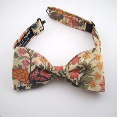 Women's Bow Tie - Lemon floral cotton