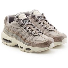 Nike Air Max 95 Sneakers (€189) ❤ liked on Polyvore featuring shoes, sneakers, beige, nike sneakers, nike footwear, nike trainers, air cushion shoes and beige sneakers