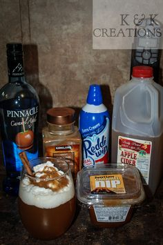Here's a Fall Drink I made! Pinnacle Caramel Apple Vodka (or whipped/caramel) mixed with Apple Cider. Heat caramel and drizzle some in the bottom of the glass before filling it up. Next top with whipped topping, drizzle more caramel and sprinkle on some cinnamon. Then, add a cinnamon stick for extra flavor. presto! One amazing fall drink!!