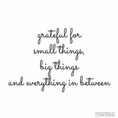 I am grateful for everything!!