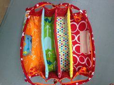 Sew Together Bag. DIY step-by-step tutorial. This will be so helpful when I actually find the time to do this.