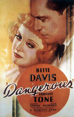 Bette Davis won her Best Actress Oscar for her role as an alcoholic actress considered a dangerous jinx is rehabilitated but shows she's a dangerous as ever. Old Movies, Vintage Movies, Great Movies, Classic Movie Posters, Classic Movies, Best Actress Oscar, Bette Davis Eyes, Betty Davis, Film Genres