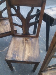 My tree chairs solid bottoms