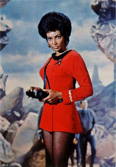 """""""in 1966, Uhura was the first black woman as a main character on US TV who was not a servant. NBC refused to let Nichelle Nichols be a regular, claiming Deep South affiliates would be angered, so Star Trek creator Gene Roddenberry hired her as a """"day worker,"""" but included her in almost every episode. She actually made more money than any of the other actors through this workaround, but it was still a humiliating second-class status. The network people made life hard for Nichols, constantly…"""