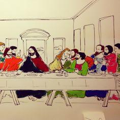 L'Ultima Cena por Lindavinci #santaceia