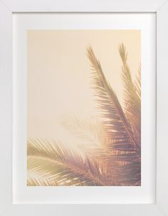 """Get the tropical feels with this """"Golden Palm Tree"""" that is available in a variety of frame and size options on Minted."""