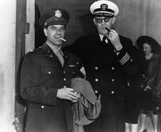 SERVING THEIR COUNTRY - Hollywood film directors Frank Capra & John Ford in uniform - World War II