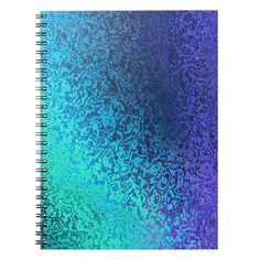 Shades of #Blue #SpiralBinder Spiral #Notebook #Zazzle