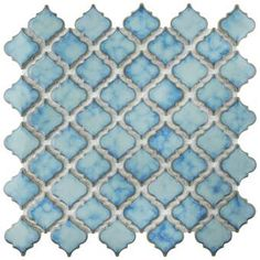 The popular Pescado Series now comes in a sample size. The Merola Tile Pescado Glossy Agua Ceramic Mosaic Tile - 6 in. x 6 in. Tile Sample captures a unique oval design. This mosaic features watercolor Ceramic Mosaic Tile, Ceramic Subway Tile, Marble Mosaic, Mosaic Glass, Cement Tiles, Stone Mosaic, Blue Mosaic Tile, Mosaic Birdbath, Honed Marble