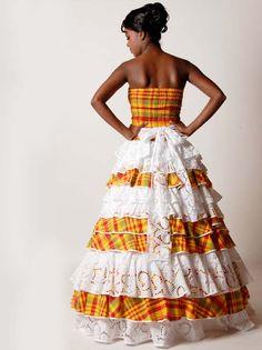 Robe de Mariée mariage créole, antillais Ibiza II - Dodyshop