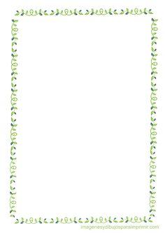 Bordes con hojas para imprimir