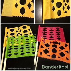 Around the World in 8 Ways: Internationally Inspired Spring Crafts for Kids : Papel Picado Flags Craft to celebrate Hispanic Heritage Month by Growing Up Blackxican Hispanic Art, Hispanic Culture, Spring Crafts For Kids, Art For Kids, Mexican Independence Day, Spanish Heritage, Heritage Crafts, Hispanic Heritage Month, Thinking Day