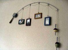 Very cool fishing rod decor idea! #fishing #interiordecorating #decor