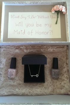 How I asked my Maid of Honor and Bridesmaid. Our wedding colors and theme Key to Your Heart