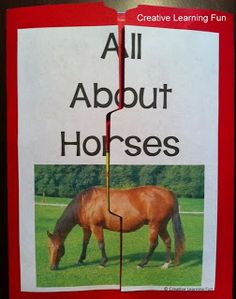 FREE All About Horses Lapbook  - Pinned by @PediaStaff – Please Visit ht.ly/63sNtfor all our pediatric therapy pins