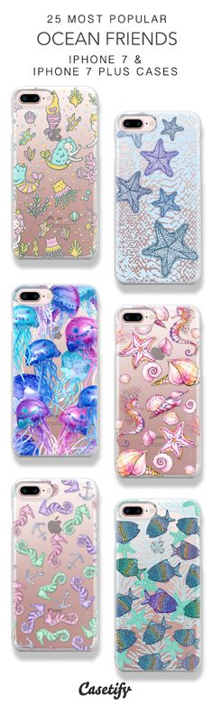 25 Most Popular Ocean Friends Protective iPhone 7 Cases and iPhone 7 Plus Cases. More Sea iPhone case here > https://www.casetify.com/collections/top_100_designs#/?vc=fh0MHBG22P
