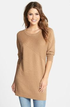 Caslon® Dolman Sleeve Directional Stitch Sweater (Regular & Petite) available at #Nordstrom