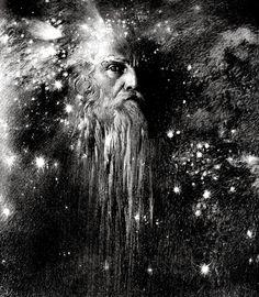 Ludwig Fahrenkrog (1867-1952), Odin, Allvater - 1906