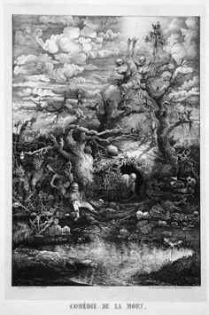 Rodolphe Bresdin: The Comedy of Death - Dark and Unholy Artworks of all Time