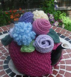 Knitted Tea Cosy by LittleDaisyKnits on Etsy,