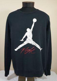 5fe2b41ce3a7b2 Nike Air Jordan Sweatshirt XL Crew Flight Cement Retro Jumpman Bulls  Nike   SweatshirtCrew