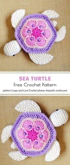 If you want to invite sea turtles to your house this spring, all you need is a crochet hook, colorful yarn, motivation, and some me-time to focus on your hobby. Crochet Simple, Love Crochet, Crochet Gifts, Crochet Flowers, Crochet Toys, Crochet Animals, Crochet Motif Patterns, Amigurumi Patterns, Knitting Patterns