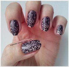 Alphabet nail art challenge - Letter L