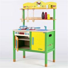 Featuring on Loubilou.com - Petite Cuisine is great for encouraging role play and new vocabulary. It includes a hob, sink, cooker and all the utensils. The zesty colours will ...