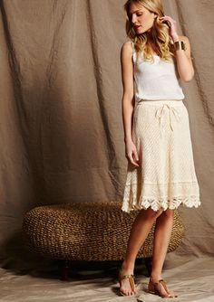 On ideeli: MIX NOUVEAU Crochet Midi Skirt