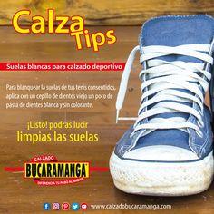 Calzado Bucaramanga te trae un nuevo calza tips para las suela blancas de tus #zapatos deportivos.  www.calzadobucaramanga.com