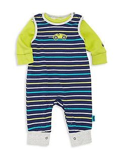 Offspring Baby's Two-Piece Footie & Sweater Set - Navy-Green-