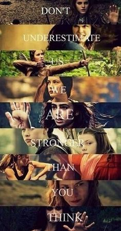 Tris (Divergent) Katniss (hunger games), Lucy pevensie (narnia) hermoine granger (harry potter) percy jackson, the mortal instruments. Book Memes, Book Quotes, Harry Potter, The Hunger Games, Citations Film, Foto Poster, We Are Strong, Strong Women, Film Serie