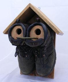 Double boot bird house