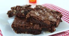 Homemade Chocolate Brownies from Deep South Dish blog. Our favorite family recipe for years, this homemade brownie recipe produces a chewy, fudgy brownie with a crusty top - just as a brownie should be. Just be sure to do everything in order and make no substitutions!